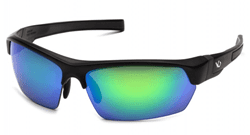 Picture of Safety Glasses Pyramex Tensaw Lens Green Frame Black Anti-Fog Polarized