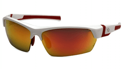 Picture of Safety Glasses Pyramex Tensaw Lens Red Frame White Anti-Fog Polarized