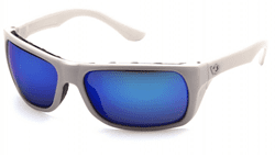 Picture of Safety Glasses Pyramex Vallejo Lens Blue Frame White Anti-Fog