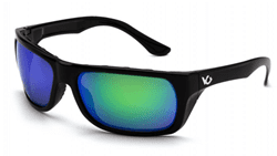 Picture of Safety Glasses Pyramex Vallejo Lens Green Frame Black Anti-Fog Polarized