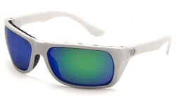 Picture of Safety Glasses Pyramex Vallejo Lens Green Frame White Anti-Fog Polarized