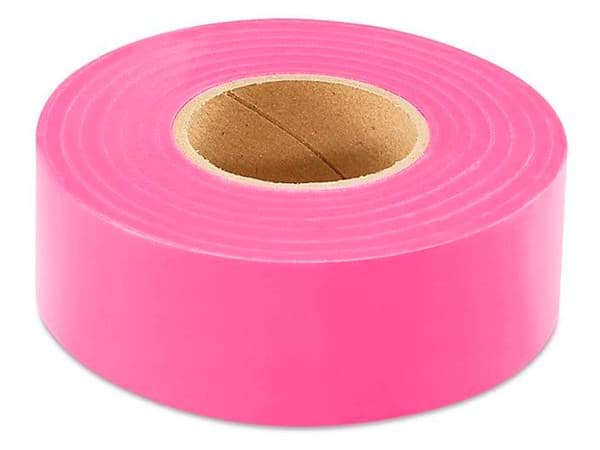 "Picture of Flagging Tape 1-3/16"" x 300' – Pink Glow"