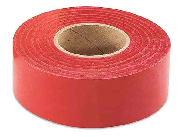 "Picture of Flagging Tape 1-3/16"" x 300' – Red"