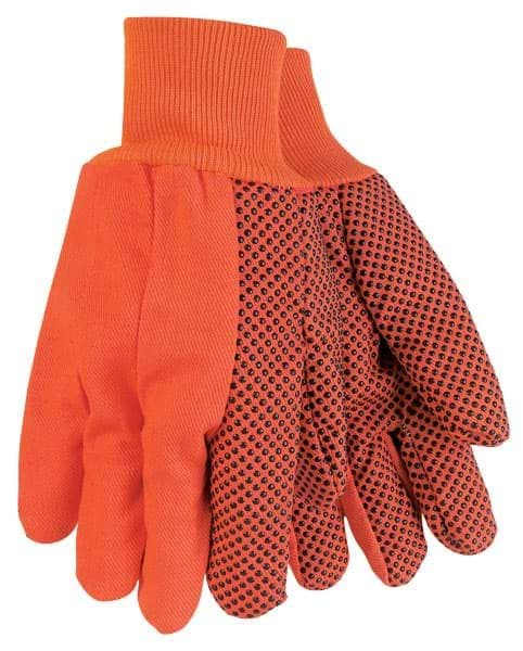 Picture of Glove Cotton Orange w/ Dot Black Double Palm