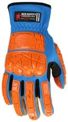 Picture of Glove MCR ForceFlex Top Blue Palm Synthetic Leather Padded Wrist Slip-On - XL