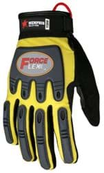 Picture of Glove MCR ForceFlex Top Yellow Palm Synthetic Leather Wrist Adjustable - L