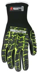 Picture of Glove MCR Predator Top Lime Palm Nitrile Wrist Slip-On - L