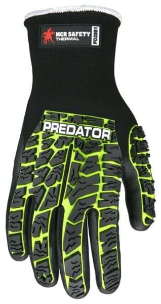 Picture of Glove MCR Predator Top Lime Palm Nitrile Wrist Slip-On - XL
