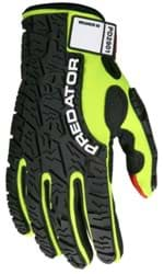 Picture of Glove MCR Predator Top Lime Palm Polyurethane Textured Wrist Adjustable - XL
