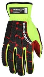 Picture of Glove MCR Predator Top Lime Palm Polyurethane Texture Wrist Slip-On - L