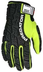 Picture of Glove MCR Predator Top Lime Palm Synthetic Leather Puncture Resistant Wrist Adjustable - XL