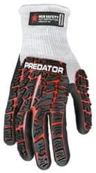 Picture of Glove MCR Predator Top Red Palm Nitrile Padded Wrist Slip-On - L
