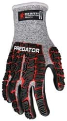 Picture of Glove MCR Predator Top Red Palm Nitrile Wrist Slip-On - XL
