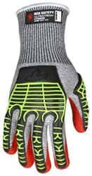 Picture of Glove MCR UltraTech Top Salt and Pepper Palm Nitrile Padded Wrist Slip-On - L