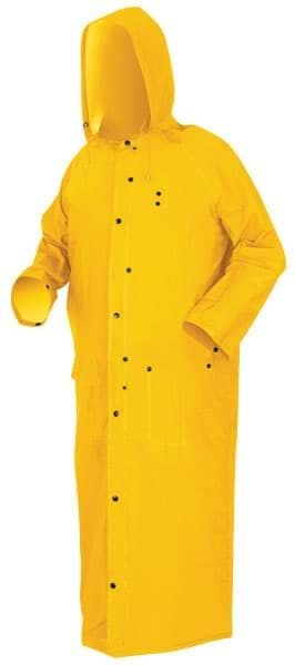 "Picture of Raincoat w/ Hood 60"" Yellow – 2XL"