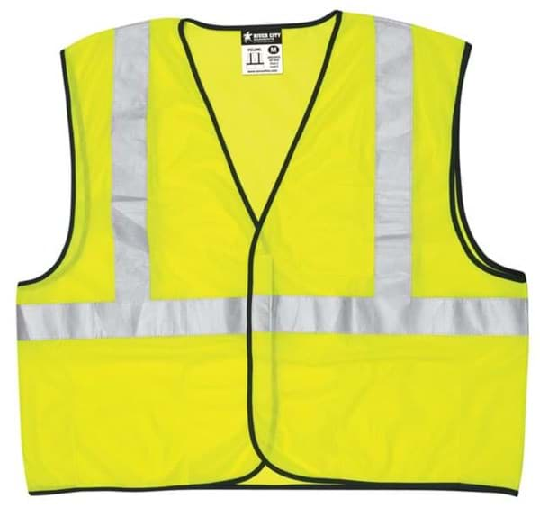 Picture of Vest Safety Mesh Green w/ Stripes Silver Class 2 Economy - M