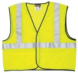 Picture of Vest Safety Mesh Green w/ Stripes Silver Class 2 Economy - XL