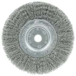 "Picture of 6"" Narrow Face Crimped Wire Wheel, .0104"" Steel Fill, 5/8""-1/2"" Arbor Hole"