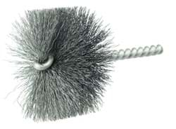 "Picture of 2-1/4"" Power Tube Brush, .008"" Steel Fill, 1"" Brush Length"