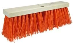 "Picture of 18"" Street Broom, 5-1/4"" Trim Length, Orange Polypropylene Fill"
