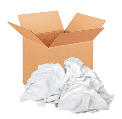 Picture of Rag White T-Shirt Box – 10lb.