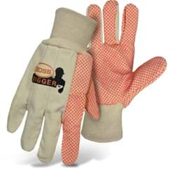 "Picture of Glove Cotton White w/ Dot Orange ""Oil Rigger"""