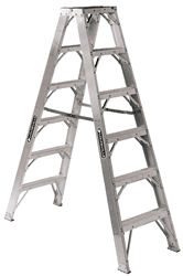 Picture of 10 ft Louisville AM1110HD Aluminum Twin Step Ladder, Type IAA, 375 lb Load Capacity