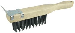 Picture of Vortec Pro  Scratch Brush w/Scraper, .012 Carbon Steel Fill, 4 x 11 Rows