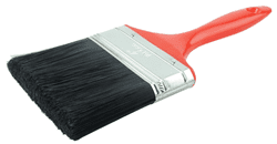 "Picture of 4"" Industrial Varnish Brush, Black Polyester, 2-3/4"" Trim Length, Red Plastic Handle"