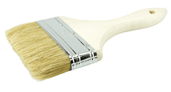 "Picture of 4"" Vortec Pro Chip & Oil Brush, 5/8"" Thick, White Bristle, 1-3/4"" Trim Length, Wood Handle"