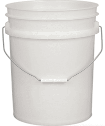 Picture of Bucket Plastic Gallon 5 - White