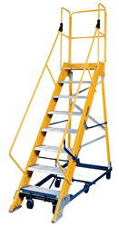 Picture of 12 ft Louisville FW2412 Fiberglass Warehouse Ladder, Type IA, 300 lb Load Capacity