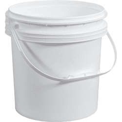 Picture of Bucket Plastic Gallon 1-1/2 w/ Lid – White