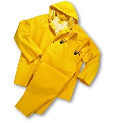 Picture of Rain Suit (Pants, Coat, Hood) 3Pc Yellow – L