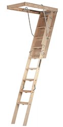 Picture of Louisville CS254I Wood Attic Ladder, Type IA, 300 lb Load Capacity