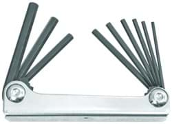 Picture of Set 9 Hex Metal Handle Fold-up Tools 5/64-1/4""