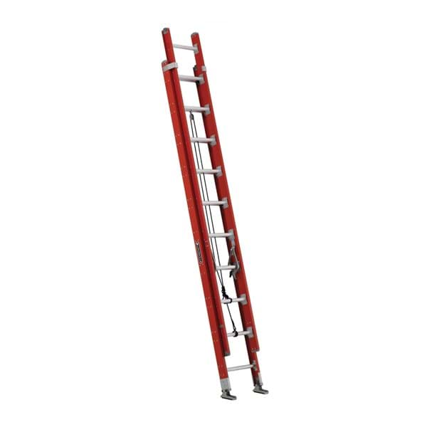 Picture of 20 ft Louisville FE7220 Fiberglass Extension Ladder, Type IA, 300 lb Load Capacity, w/ WPG & LEV