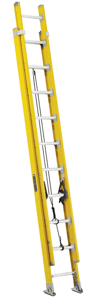 Picture of 24 ft Louisville FE4224HD Fiberglass Extension Ladder, Type IAA, 375 lb Load Capacity, w/ COMBO