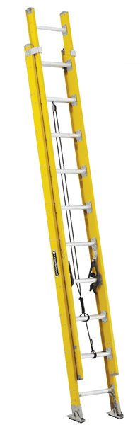 Picture of 28 ft Louisville FE4628HD Fiberglass Extension Ladder, Type IAA, 375 lb Load Capacity, w/ COMBO
