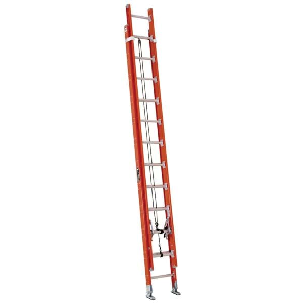 Picture of 28 ft Louisville FE7228 Fiberglass Extension Ladder, Type IA, 300 lb Load Capacity, w/ LeveLock Installed