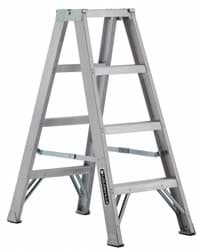 Picture of 4 ft Louisville AM1004 Aluminum Twin Step Ladder, Type IA, 300 lb Load Capacity