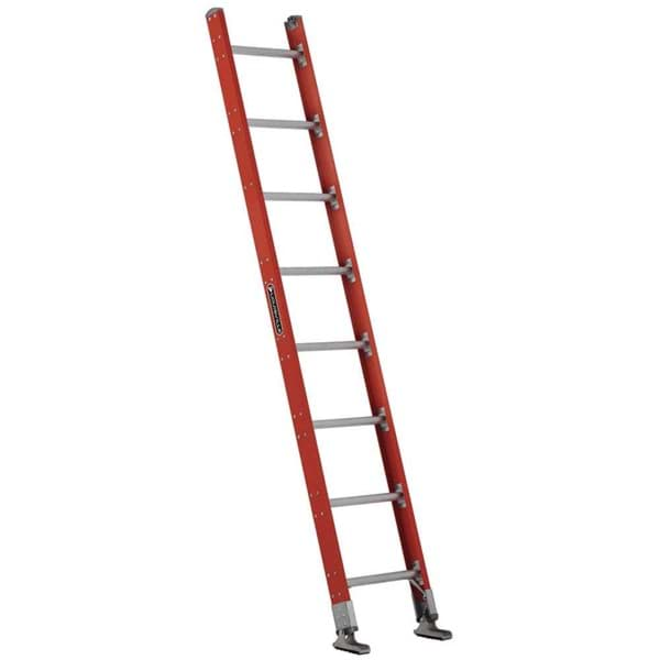 Picture of 10 ft Louisville FE7510 Fiberglass Straight Ladder, Type IA, 300 lb Load Capacity, w/ COMBO