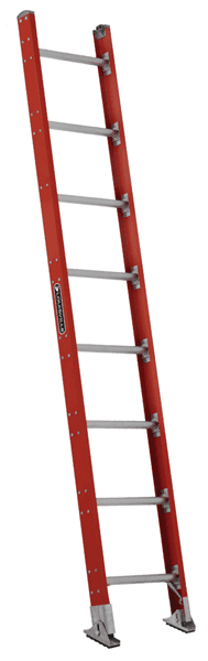 Picture of 8 ft Louisville FE7108 Fiberglass Straight Ladder, Type IA, 300 lb Load Capacity, w/ PLT
