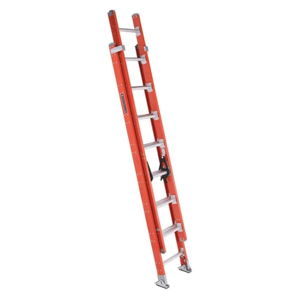 Picture of 16 ft Louisville FE7216 Fiberglass Extension Ladder, Type IA, 300 lb Load Capacity, w/ COMBO & LEVELER