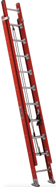Picture of 20 ft Louisville FE7620 Fiberglass Extension Ladder, Type IA, 300 lb Load Capacity, w/ LeveLock Installed