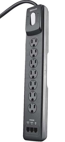 Picture of Surge Protector 6-Outlet Plastic Woods – 10'