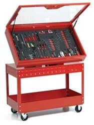Picture of 6S Visual Control Cart - Red  , Professional Series, Red