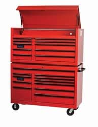 "Picture of 55"" Wide x 24"" Deep 11-Drawer Roll Cabinet, Professional Series, Red"