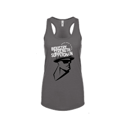 Picture of Women's RSND Man Racerback Tank - Small (Gray)