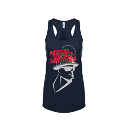 Picture of Women's RSND Man Racerback Tank - Small (Midnight Blue)